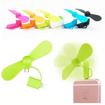 Portable USB Phone Fans For Android & iPhone