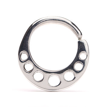 Nose Ring Dots Septum Ring Sterling Silver Body Jewelry Boho Outfit Style 14g 16g - SE018R SSO