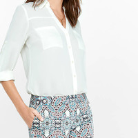 Paisley Print Side Zip Shorts from EXPRESS