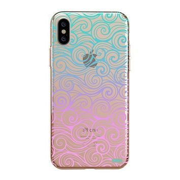 Gradient Wave - iPhone Clear Case