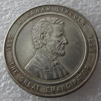 !!!RARE!!! ABRAHAM LINCOLN 1944 Chicago Coin Club High Quality THE GREAT EMANCIPATOR