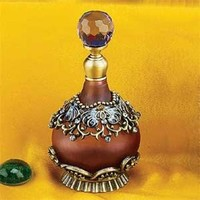 Steel Street Collectible Refillable Multi-Color Crystal Jewel Fragrance Perfume Bottle
