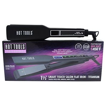 Helen of Troy Hot Tools Smart Touch Flat Iron, 1 1/2 Inch