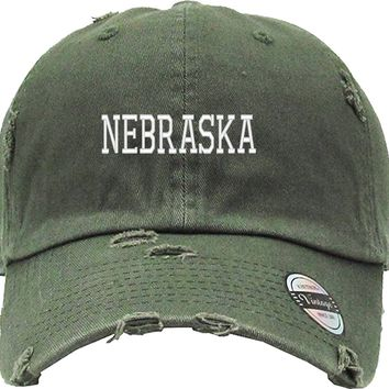 NEBRASKA Distressed Baseball Hat