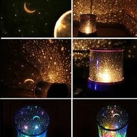 Romantic LED Starry Night Sky Projector Lamp Xmas Star light Cosmos Master Gifts