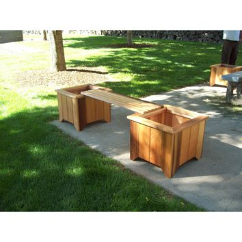 Wood Country Cedar Planter Box and Bench Set