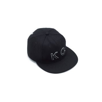 The KC Hat Snapback in Black/3D Black - Baldwin Denim and Collection