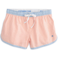 Women's Seersucker Lounge Short in Mai Tai by Southern Tide