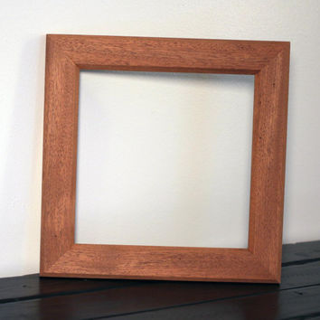 Small Mahogany Frame with Double Bevel