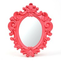 Small Scrolled Red Vanity Mirror | Kirklands
