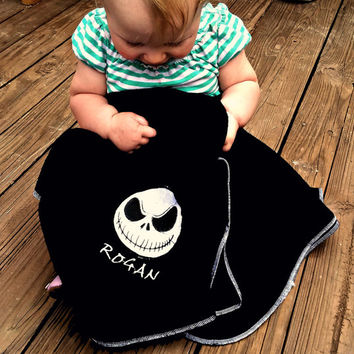 Jack Skellington Fleece Baby Blanket - from StitchezALaMode on