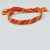Friendship Bracelet - Faded Orange Stripes - Handmade
