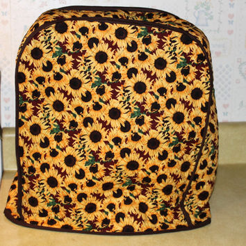Mixer/Appliance Cover for KitchenAid Stand Mixer - Large Mixer Cover - Sunflowers