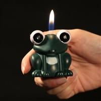 Wholesale Pemrunup Frog Shaped Butane Lighter with Flashing LED Eyes and Sound - DinoDirect.com