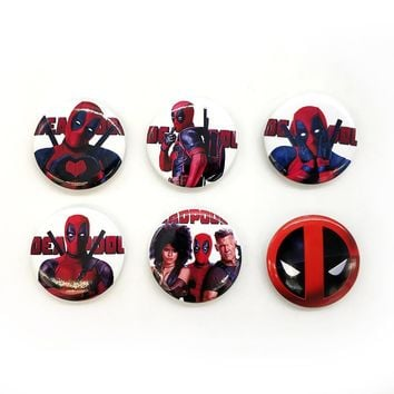 Deadpool Dead pool Taco Love Thank You  2 44MM 6pc PIN BACK ANIME BADGES BUTTONS for BAG CLOTH Marvel COOL MOVIES AT_70_6