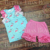 RTS - 2pc Flamingo Outfit
