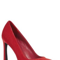 Buy Suede Flared Heel Pointed Court Shoes online today at Next: United States of America