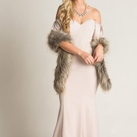 Jana Brown Faux Fur Stole