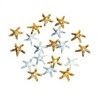 Beautiful 20 PCS 3D Alloy Starfish Shape Nail Art Decoration Nail Ornament