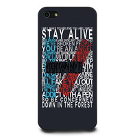 Twenty one pilots lyric iPhone 5 | 5s Case