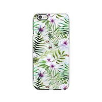Tropical Flower Hibiscus Pattern Transparent Silicone Plastic Phone Case for iphone 7PLUS _ LOKIshop (iphone 7 plus)