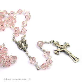 Catholic Baptism Sterling Silver Rosary Baby Keepsake