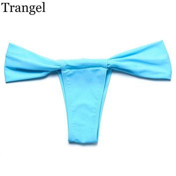 Trangel new arrival Thong Bikini Brazilian Swimwear Women Cheeky Teeny Swimsuit Biquini 2016 Swimsuit Thong Itsy Bottom maillot