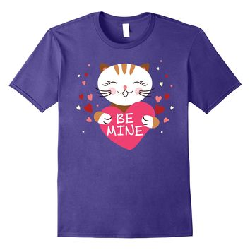 Be Mine Cute Cat Heart Funny Valentine's Day T-Shirt 2
