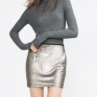SEQUINNED MINISKIRT
