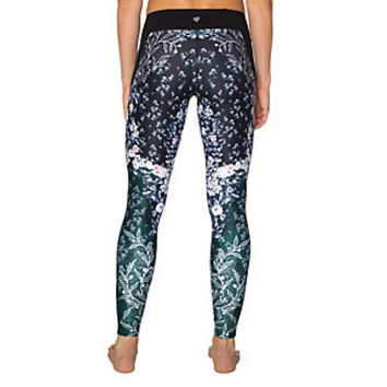 FLORAL BLOCKED MESH INSERT ANKLE LEGGING: Betsey Johnson