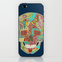 flower skull iPhone & iPod Skin by Sharon Turner | Society6