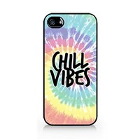 Chill Vibes (Tie Dye Version) - Tie Dye - Colorful - Hipster - iPhone 5/5S Black Case (C) Andre Gift Shop