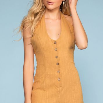 Picnic Weekend Button-Up Romper
