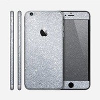 The Silver Sparkly Glitter Ultra Metallic Skin for the Apple iPhone 6 Plus