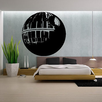 HUGE Death Star Decal Star Wars Decal Kids Room Decal Kids Wall Art Space Wall Decal star wars sticker Bedroom Gift Decoration 48 x 48