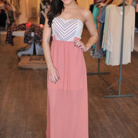 Chiffon Maxi in Rose