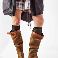 Ecote Suede Slouch Tall Boot- Khaki