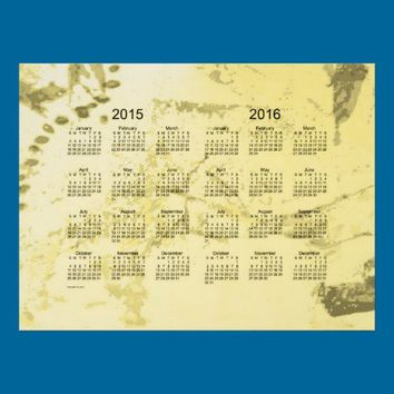 Old Yellow Paint 2 Year 2015-2016 Wall Calendar Print from Zazzle.com