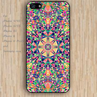 iPhone 5s 6 case flowers irregular geometry mandala phone case iphone case,ipod case,samsung galaxy case available plastic rubber case waterproof B347