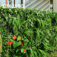 1 Sqm Ornamental Garden Fence Artificial Greenery Plants Fence Cover Decorative Privacy Screens Outdoor Topiaries Barrier