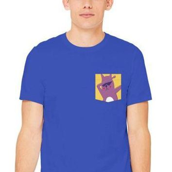 crew cut TeeLish cat dab pocket tee shirt