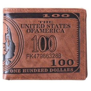 DCCK0OQ 1PCS Men US Dollar Bill Wallet PU Dollar Wallet