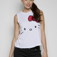 Girls 'Hello Kitty' Licensed Sleeveless Tee With Open Back