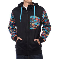 Empyre The Riot Black & Native Print Tech Fleece Hooded Jacket at Zumiez : PDP