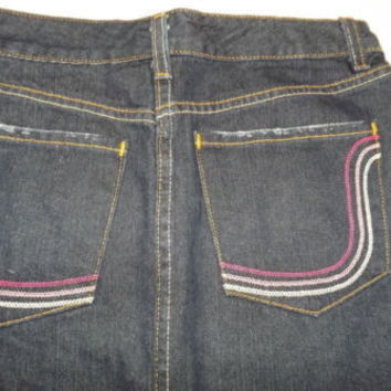 new TOMMY HILFIGER womens Teen Girls Stylish Distressed  Jean Skirt Size 2