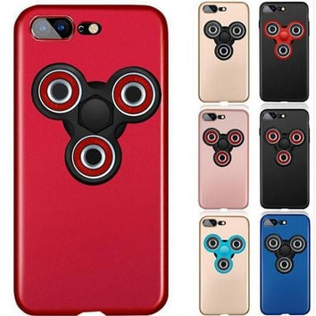 Luxury Phone Case for iPhone 6 6S Plus Ultra Thin PC Cover With Finger Spinner Decompression Gyro Protection Coque