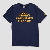 Junk Food Men's The Beatles Sgt. Pepper's Lonely Hearts Club Band Short Sleeve T-shirt - Navy