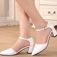 Womens Cool Classy Ankle Strap Heels