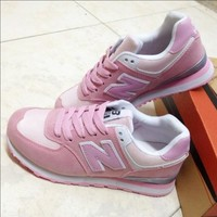 New Balance Fashion Casual All-match N Words Breathable Couple Sneakers Shoes Pink