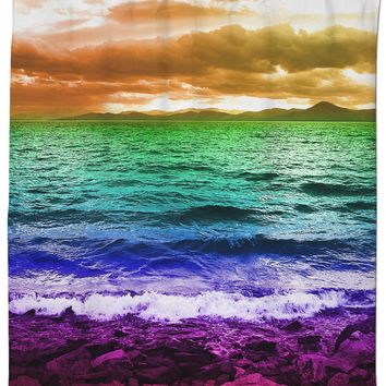 Rainbow Sea Shower Curtain